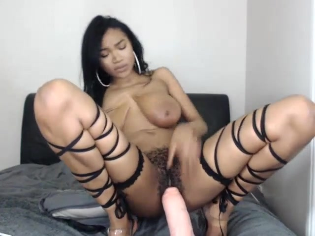 Thick Ebony Bbw Riding Dildo