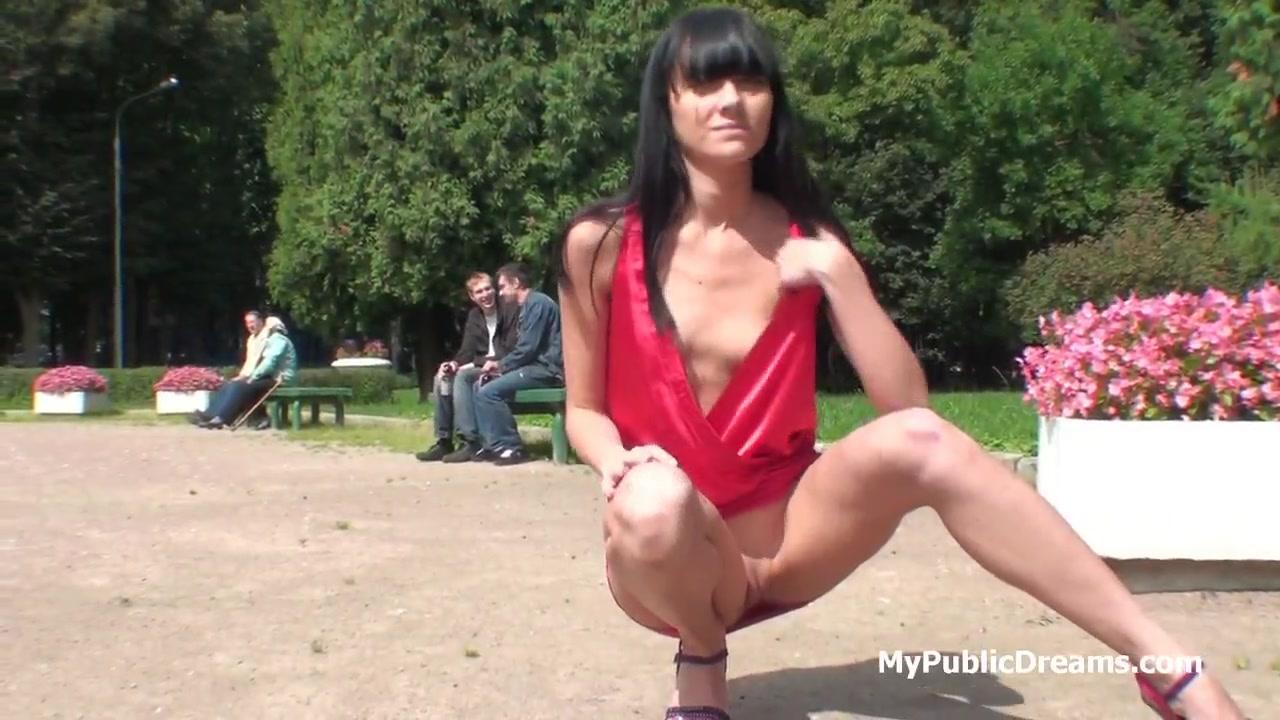 Public Flashing No Panties
