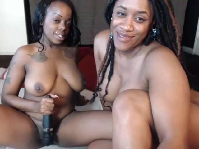 Ebony Lesbian Clit Rubbing